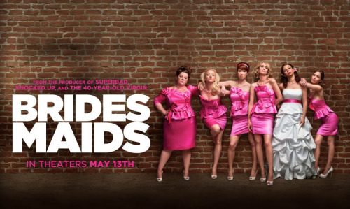 movielogbook:  bridesmaids [2011]/R watch on sockshare when i saw this movie in theaters in may, i was laughing so hard i was crying through the entire movie. i can't pick a favorite part. i loved all of the interactions annie had with her weird british roommates who were siblings, the competitive nature of her relationship with helen, her awkward cop boyfriend, everything megan, lillian's sister-in-law, said or did. just gold.  becca: You are more beautiful then Cinderella! You smell like pine needles, and have a face like sunshine! megan: I'm glad he's single because I'm going to climb that like a tree.  the entire bridal shower scene   would i watch it again? YES. a million times, yes.