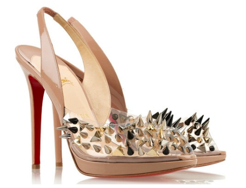 "HOLLA DAY GIFT FOR HER.. ""Hints"" Christian Louboutin Pik Pik Pik 120 studded slingbacks"