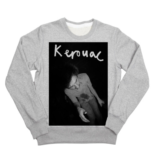 kerouacband:  holyroarrecords:  New and exclusive Kerouac sweater/t-shirt now up for preorder in our store! Vocalist Thomas Denson smashed out of all recognition in a Belgian squat!  i am fucked i would really like a kerouac jumper, however, i'm not sure how i feel about wearing a picture of you, thom.