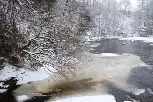 Wintry river, Bolton Abbey, Yorkshire, UK