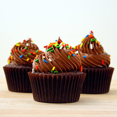 celebratewithcake:  Triple Chocolate Cupcakes