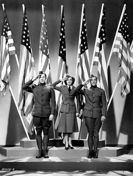 "George Murphy, Judy Garland and Gene Kelly in ""For Me and My Gal"" (1942)"