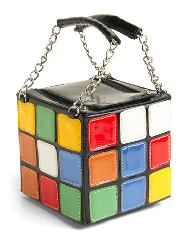 WANT  fabbydiu:  Gift Idea #15: Rubik's Cube Handbag $53