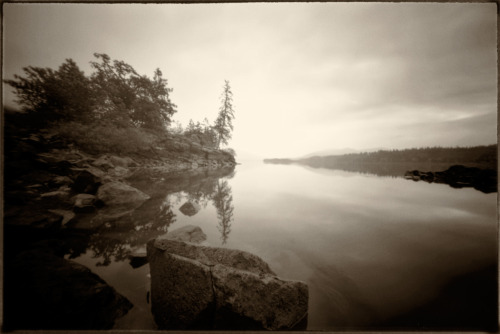 Columbia River Gorge A bit of a homage to Carleton Watkin's wet plate collodion images of the Gorge in the 1880's6x9 pinholeEktar 100B&W conversion with Silver EfexPro 2