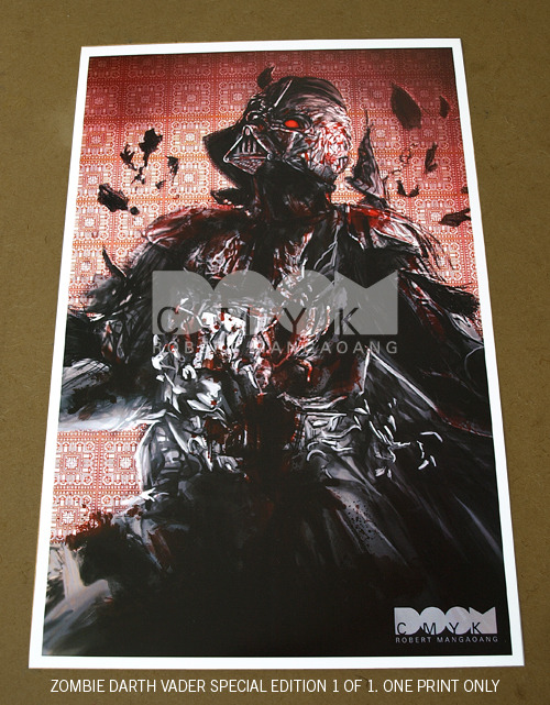 Zombie Darth Vader Special Edition 1 of 1. http://www.etsy.com/shop/doomcmyk