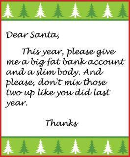 This had me laughing! I think I might have to pass this on to Santa this year.  psb
