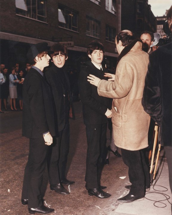 "mcharrlennonstarr:  conversadepub:  On the Set of ""A Hard Days Night""  Why is Paul so gorgeous"