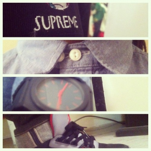 #ThanksGiving  #JordanBrand 08 3s #Nixon #clothing #streetwear  (Taken with instagram)