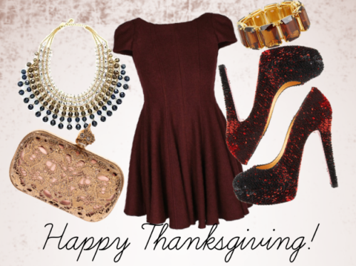 bergdorfprincess:  Happy Thanksgiving everyone! Here's a Thanksgiving outfit for everyone who requested it :)