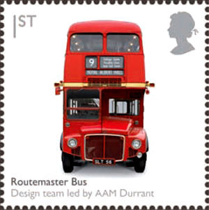 London Bus Stamp