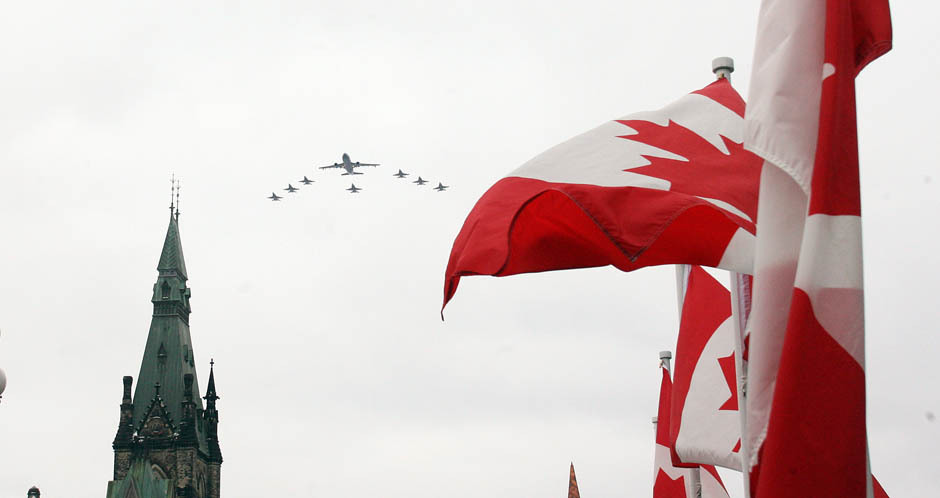Celebration on Parliament Hill marks the end of Canada's Libya missionA flyover the West Block of Parliament Hill on Thursday by RCAF aircraft deployed in Libya in recognition of the Canadian Forces contribution to support of the Libyan people. (Photo: PAT McGRATH/Postmedia News)