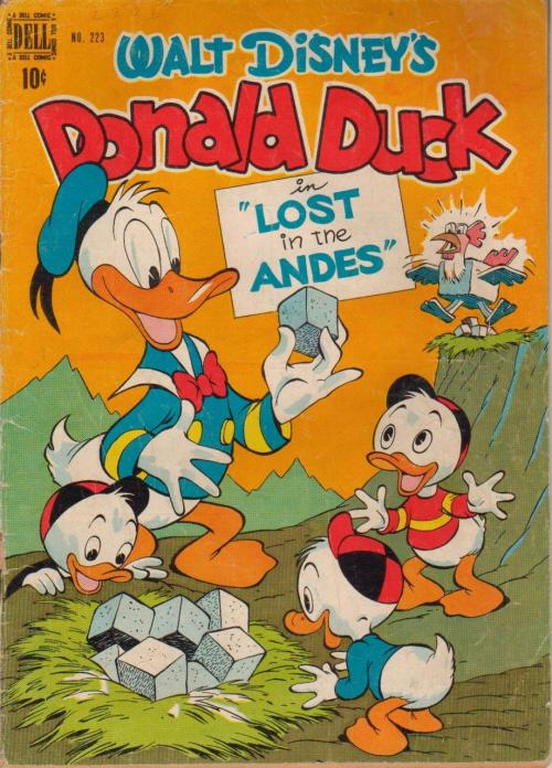 powerboy:  Four Color (Vol. 2) #223 April 1949 Carl Barks (pencils, inks) If you haven't gotten Fantagraphics' new Carl Barks collection yet, definitely go out and get the first volume.