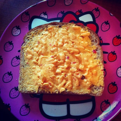 cigaretteswhiskey:  #Pimento #sandwich Happy Thanksgiving!    (Taken with instagram)