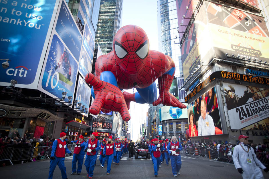 The National Post looks at the Macy's Thanksgiving Day Parade in photos. That's a big Spider-Man!