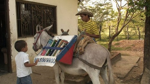 Luis Soriano Bohorquez who created the Biblioburro, or Library Donkey, in an effort to bring books and the gift of reading to the children in his community of La Gloria, Colombia.  learn more: http://www.youtube.com/watch?v=eQMh8_TD2dI
