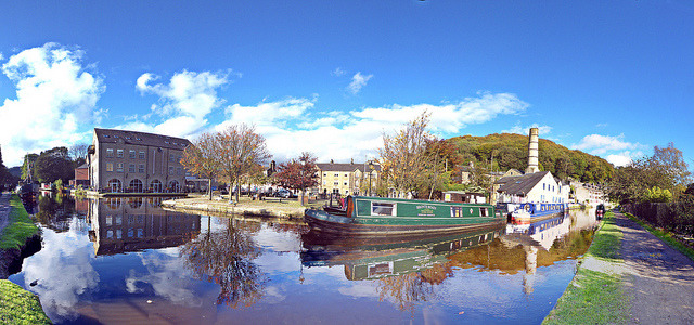 Hebden Bridge - canal - autumn on Flickr.