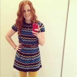 Thanksgiving dress! #missoni #target #yellowtights #me #redhead (Taken with instagram)