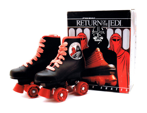 I've got a brand new pair of rollerskates. You've got a brand new key. Return of the Jedi roller skates circa 1983 :: scanned from Star Wars: 1000 Collectibles :: Abrams Books :: 2008