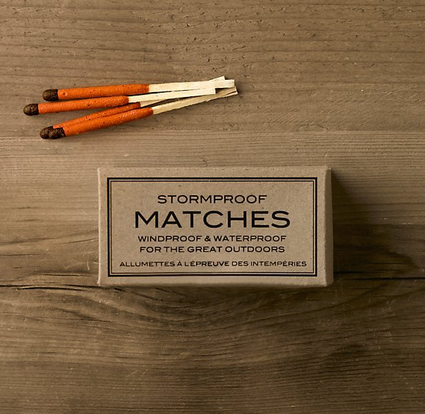 theblackworkshop: Stormproof Matches