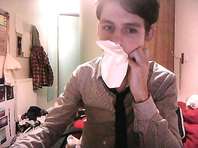 My brilliant go-to solution for a runny nose when no one is around. On a less amazing note, I haven't posted anything in a while. This is partly because I didn't want to post anything after my first post to make it over 100 notes and somehow make it right up to 1,000. So thanks for that current followers, and a friendly hello to my new followers. I have a lot of work to be posting over the next few days, a couple of stories to tell, and I'll be back to posting regularly over the coming days. I'm leaving London for the weekend and heading back to my happy little village to celebrate my 20th birthday with my family and friends back home - can't wait. Happy thanks giving, 'Mericans!