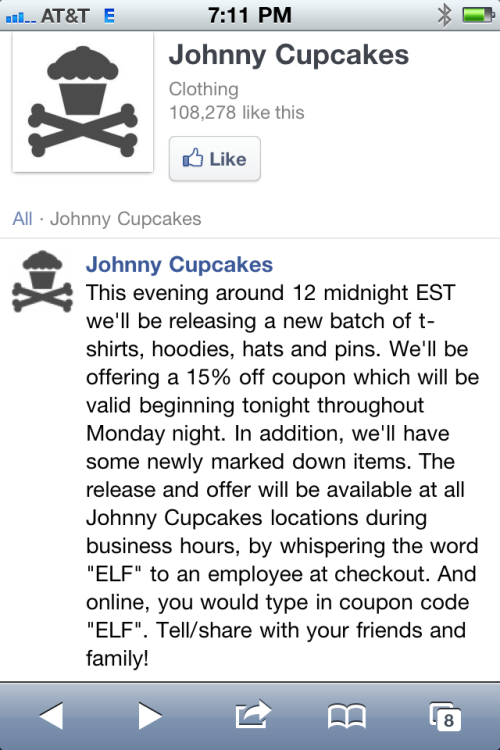 johnnycupcakes:  .  JC x black Friday