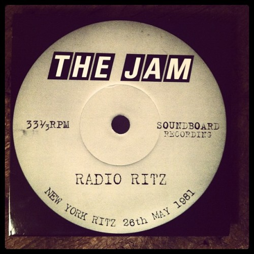 Rushed my money to the record shops today, sounds great. #thejam #live #ritz #vinyl #weller #newyork (Taken with instagram)