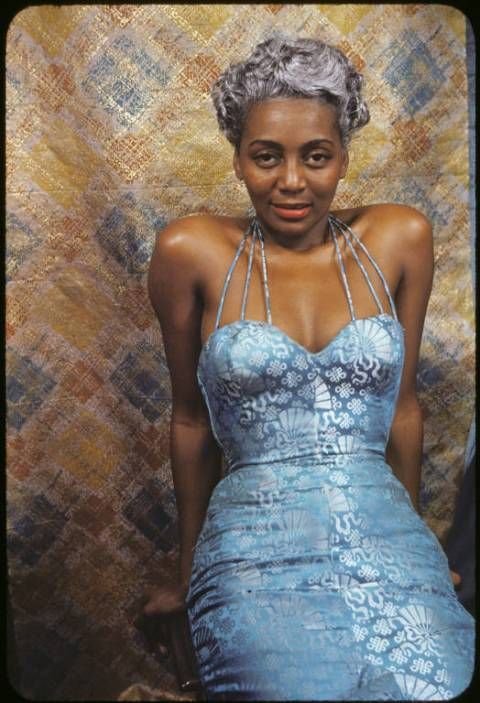 "Joyce Bryant modelling a Zelda gown. Photograph by Carl Van Vechten (1953) (via THE CANON: CARL VAN VECHTEN « The Dark Tower Storytelling Guild) she was so ahead of her time. you see her beautiful silver hair? here's the story behind it: ""The signature silver hair came before she was to perform  with famed dancer Josephine Baker. Bryant didn't want to be outdone with  one of Baker's antics and dyed her hair with silver radiator paint. It  wasn't great for her hair but it worked wonders for her career."" what a stylish fantastic babe."