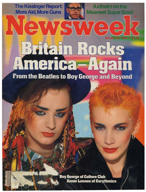 80srecordparty:  Newsweek, January 23, 1984  Possibly the most colorful Newsweek cover in history.
