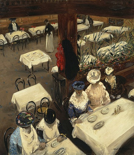Alfred Henry Maurer In a Cafe 1905