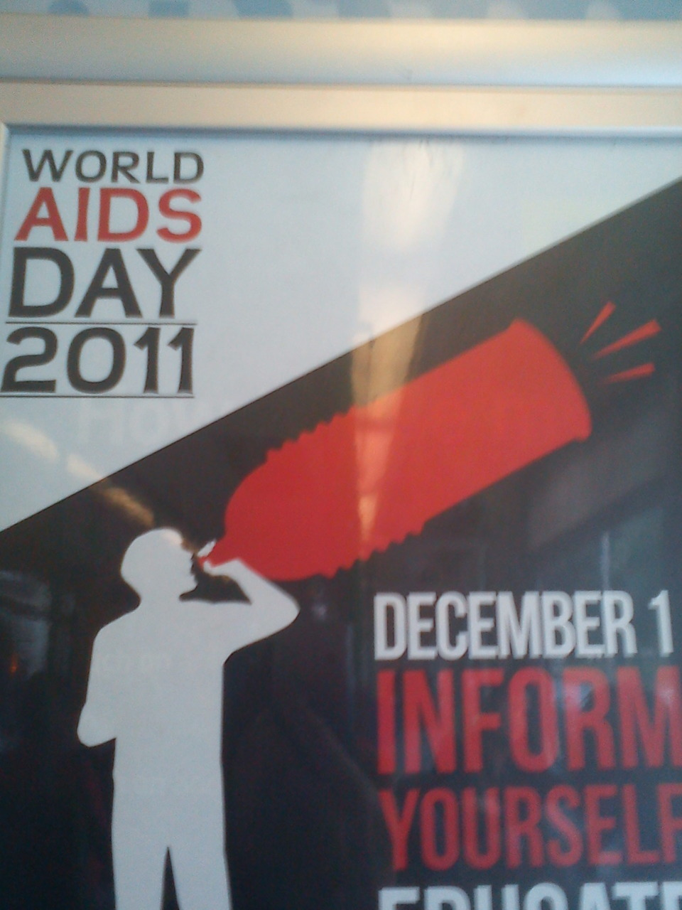 wtf lol massive world aids day condom. thats too big