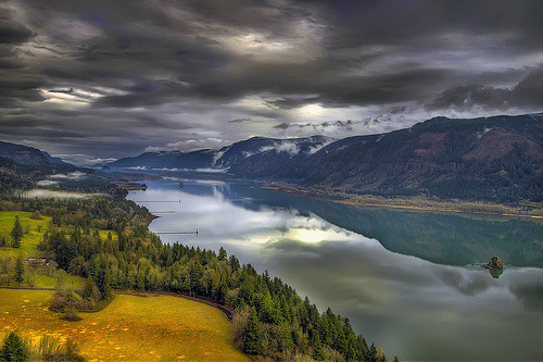 Columbia River Gorge from Cape Horn - Washington - HDR (by David Gn Photography) Washington, US