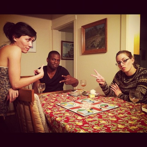 Parcheesi on Thanksgiving is so gangster (w/ @jshakeshaft sister and mashpotato) (Taken with Instagram at Home)
