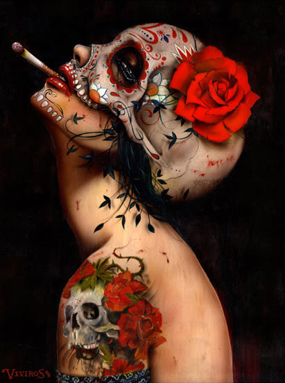 "art of the day:  ""viva la muerte"" by brian viveros."