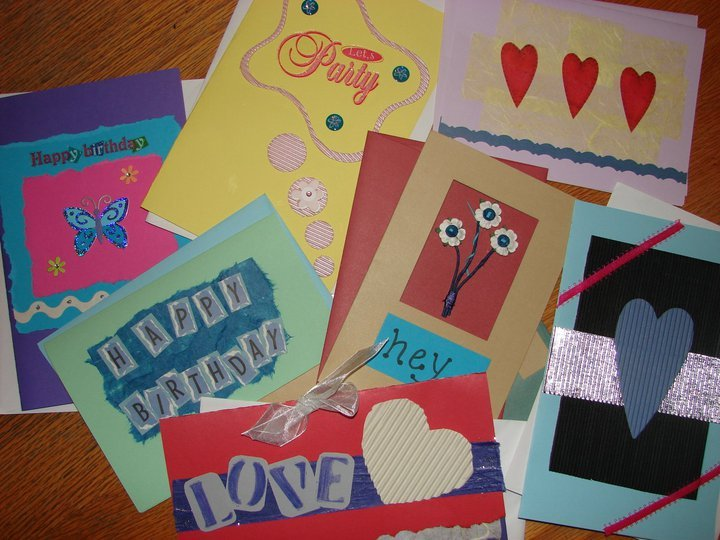 Birthday, Thank You, Christmas, Anniversary, Valentine's, etc. I make cards for all occasions. I have a funny habit of keeping all of the greeting cards i get throughout the year, then turn them into new again.  photo=nap