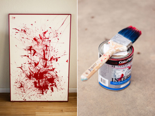 (via Strawberry Chic: DIY Tuesday: Splatter Painting)