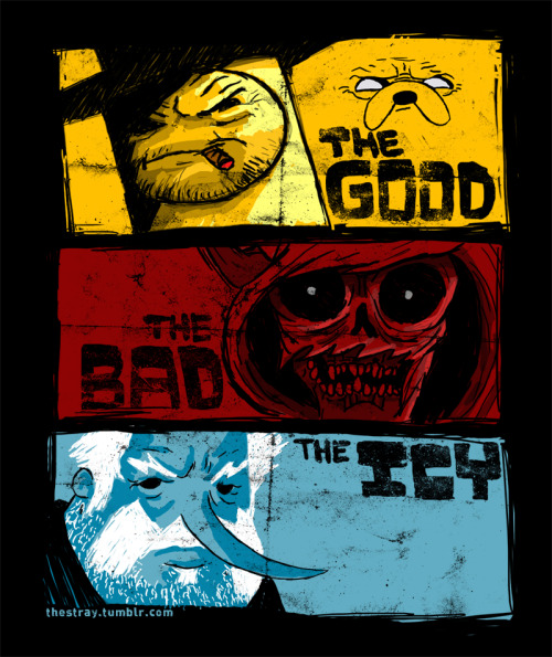 thestray:  The Good, The Bad, & The Icy. Available on a shirt in my shippity shop And since it's Thanksgiving weekend I'll leave the price at $12.99 til Monday. Yay Black Friday! also available as a print  I don't know how this started getting a bunch of notes again suddenly. But thanks! You are precious in my sight.