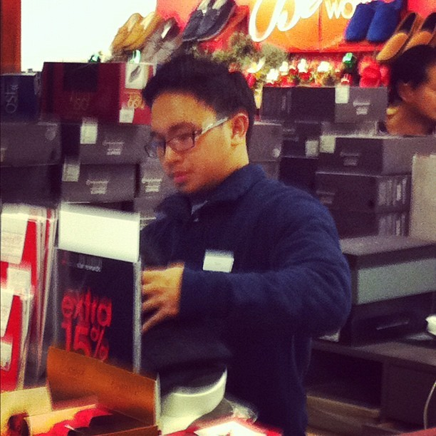 My cousin Dylan getting slammed at Macy's Black Friday (Taken with instagram)
