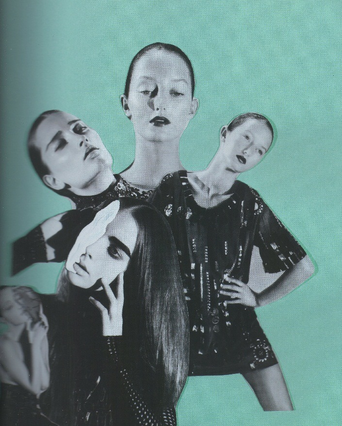 """Noir""; Iekeliene Stange, Ali Michael and Tayla Collins photographed by Sofia Sanchez & Mauro Mongiello for 10 magazine"