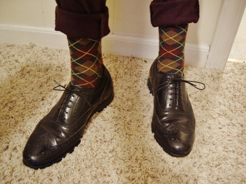 thestoryparade:  My new Florsheim wingtips. Feelin' saucy.