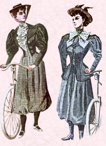 "tookmyskull:  The original bloomers were an article of women's clothing invented by Elizabeth Smith Miller of Peterboro, New York an early pioneer of the vulcanized rubber girdle, but popularized by Amelia Bloomer in the early 1850s (hence the name, a shortening of ""Bloomer suit""). They were long baggy pants narrowing to a cuff at the ankles (worn below a skirt), intended to preserve Victorian decency while being less of a hindrance to women's activities than the long full skirts of the period (see Victorian dress reform). They were worn by a few women in the 1850s, but were widely ridiculed in the press, and failed to become commonly accepted (see 1850s in fashion). Bloomer was an insult made up by the newspapers of the time. British explorer Richard Francis Burton, travelling across the United States in 1860 noted that he saw only one woman (whom he called a ""hermaphrodite"") wearing bloomers.[1] The costume was called the ""American Dress"" or ""Reform Costume"" by the women's activists that wore it. Most of the women who wore the costume were deeply involved in dress reform, abolition, temperance and the women's rights movement. Although practical, the ""bloomers"" were also an attempt to reform fashion since the majority of ""bloomers"" were also in upper to middle class and also in the public eye."