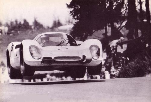 Porsche 908 at the Nurburgring (year unknown, maybe 1969).