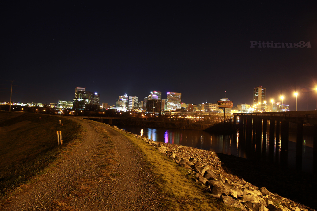 I have not seen a picture taken of the RVA skyline from this location before, so here ya go.