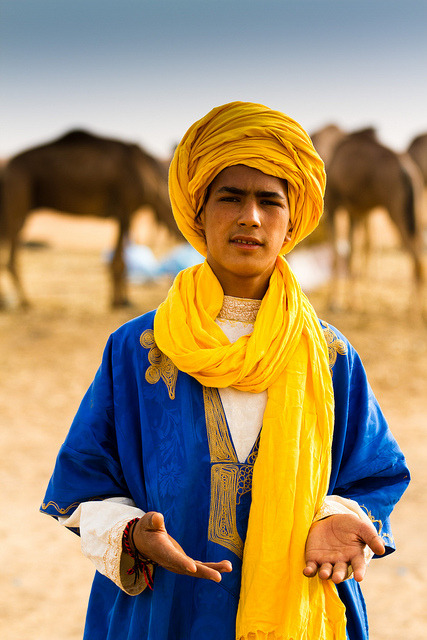 37thstate:  Morrocan Boy. Love the Blue and Yellow Combo!