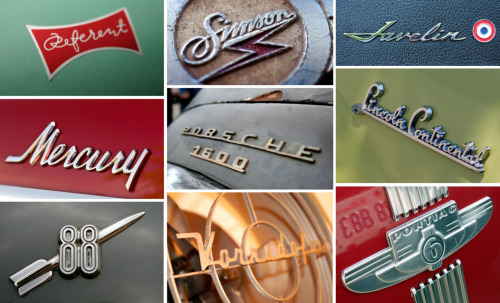 "Chromeography This site is simply awesome: ""In praise of the chrome logos and lettering affixed to vintage automobiles and electric appliances.""  Curated by Stephen Coles, the archives are a wealth of inspiration. Must see!"