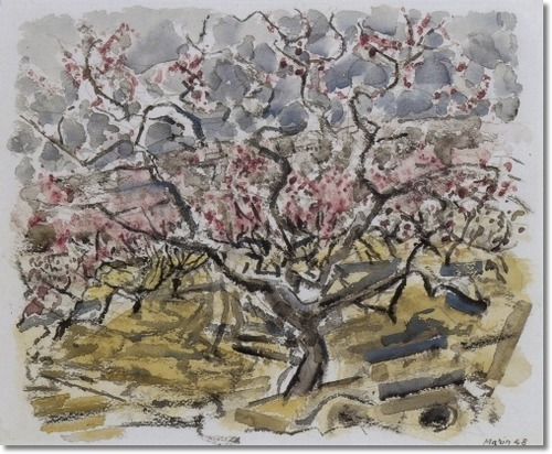 Peach Trees In Blossom No. 1 1948 By John Marin
