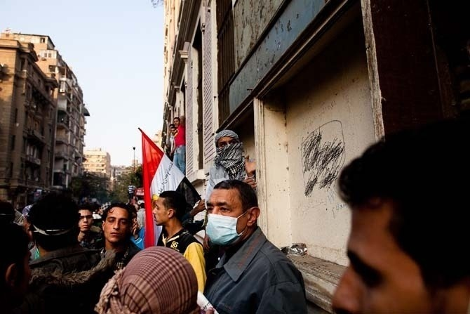 DISPATCH FROM CAIRO: THE PAST FEW DAYS IN TAHRIR For six days, or 144 hours, Egypt's loathed police and the young vanguard of the country have been fighting pitched battles in the streets, as the country burns, chokes and bleeds its way towards a (some would say second) revolution.