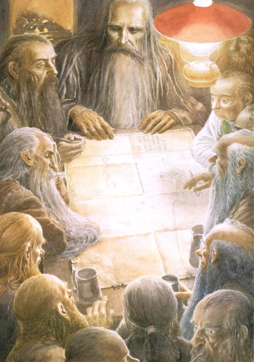 ar-feiniel:  ar-feiniel: Alan Lee: An Unexpected Party