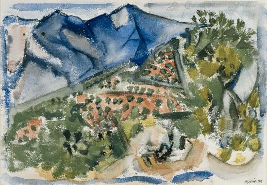 John Marin  New Mexico Landscape, 1929 Watercolor and charcoal on paper 14 in. x 20 in. Gift of John Marin, Jr. and Norma B. Marin http://www.colby.edu/academics_cs/museum/search/Obj2347?port=104