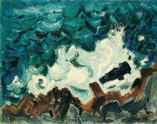 John Marin, Wave on Rock, 1937