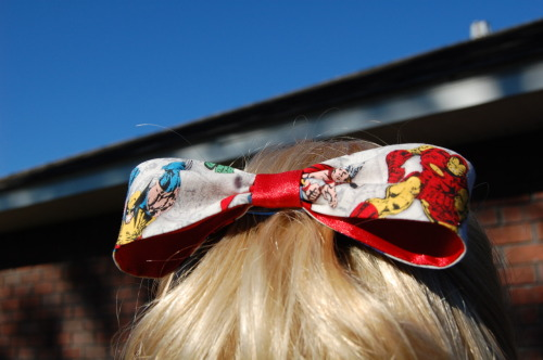Wolverine and Iron Man Hair Bow! Please check it out at my Etsy shop and follow my facebook page for future updates!